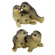 Couple de phoques amoureux