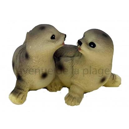 Couple de phoques amoureux A
