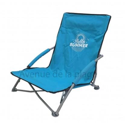 si ge de plage bas pliant hello summer pas cher chaise de plage. Black Bedroom Furniture Sets. Home Design Ideas