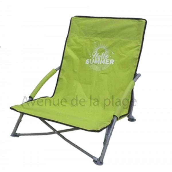 si ge de plage bas pliant hello summer pas cher chaise de. Black Bedroom Furniture Sets. Home Design Ideas