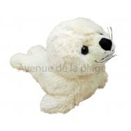 Peluche bébé phoque blanc 24 cm