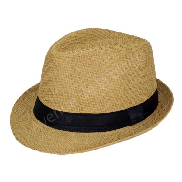 bcee9754bf24 ... Chapeau style Borsalino camel pour enfant ...