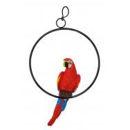 Perroquet sur perchoir 32 cm