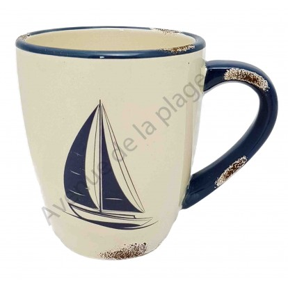 Mug voilier style ancien