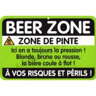 "Plaque de porte Danger ""Beer Zone"""