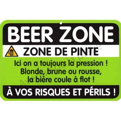 """Plaque de porte Danger """"Beer Zone"""""""