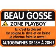 """Plaque de porte Danger """"Beau Gosse"""""""