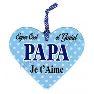 """Coeur à suspendre """"Papa je t'aime"""""""