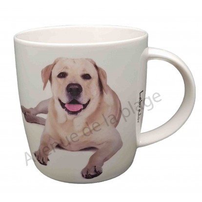 Mug chien Labrador sable couché