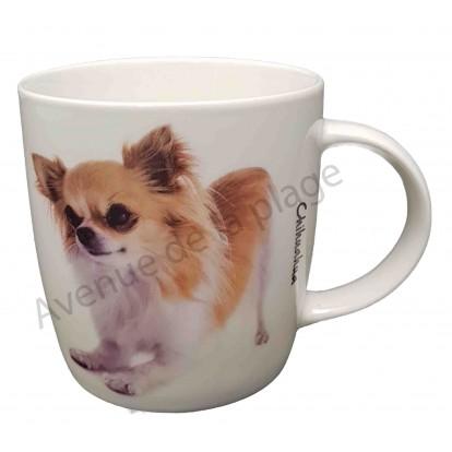 Mug chien Chihuahua à poils longs