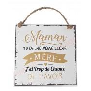 "Plaque message ""Maman merveilleuse"""