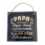 "Plaque message ""Papa Extraordinaire"""