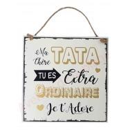 "Plaque message ""Tata Extraordinaire"""