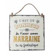 "Plaque message ""Marraine fantastique"""