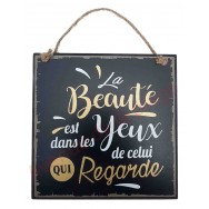 """Plaque message """"La beauté"""""""